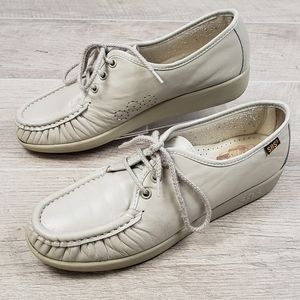 SAS Beige Tan Leather Lace Up Tripad Comfort Shoes